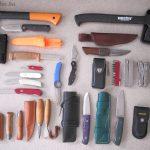 Néhány szó késekről, baltákról multieszközökről.